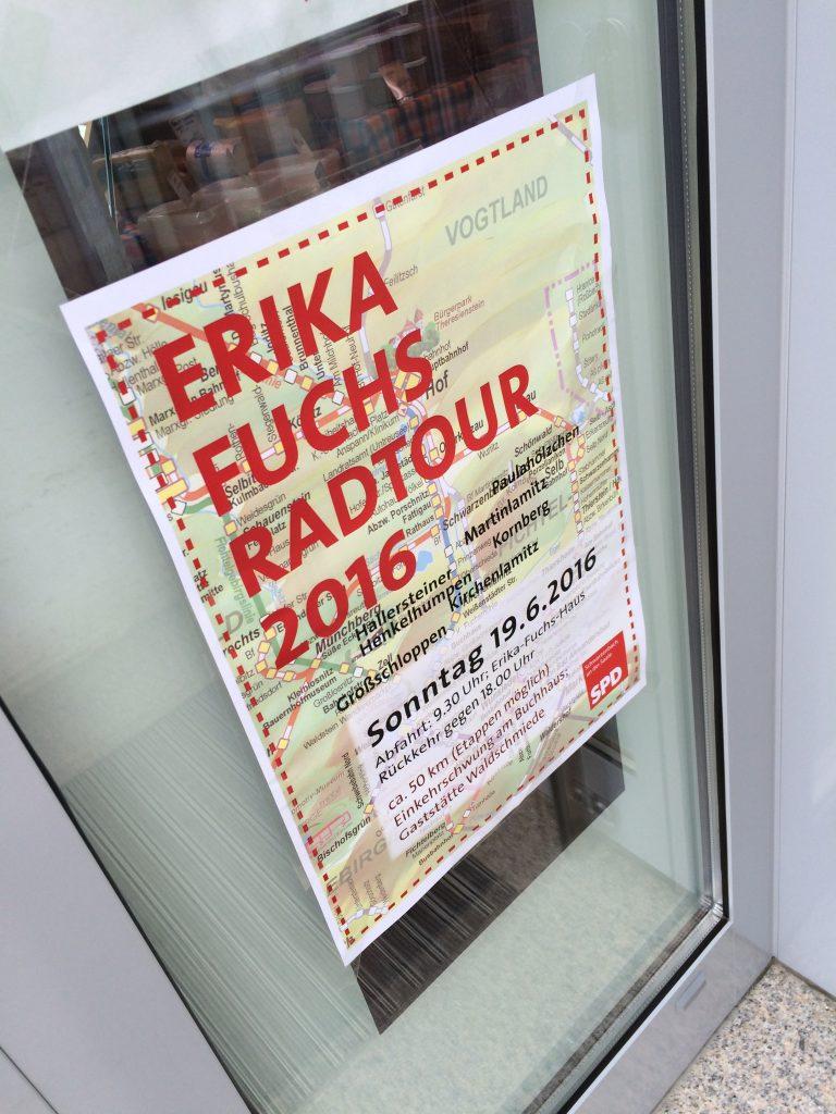Erinnerungen an Erika Fuchs in Schwarzenbach an der Saale