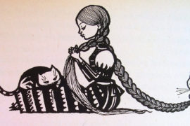 """Illustration aus Märchenbuch """"Der Falke unter dem Hut"""""""