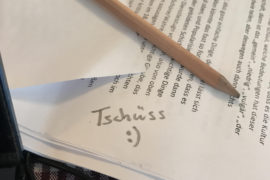 Schreiben für Andere - ein Abschied